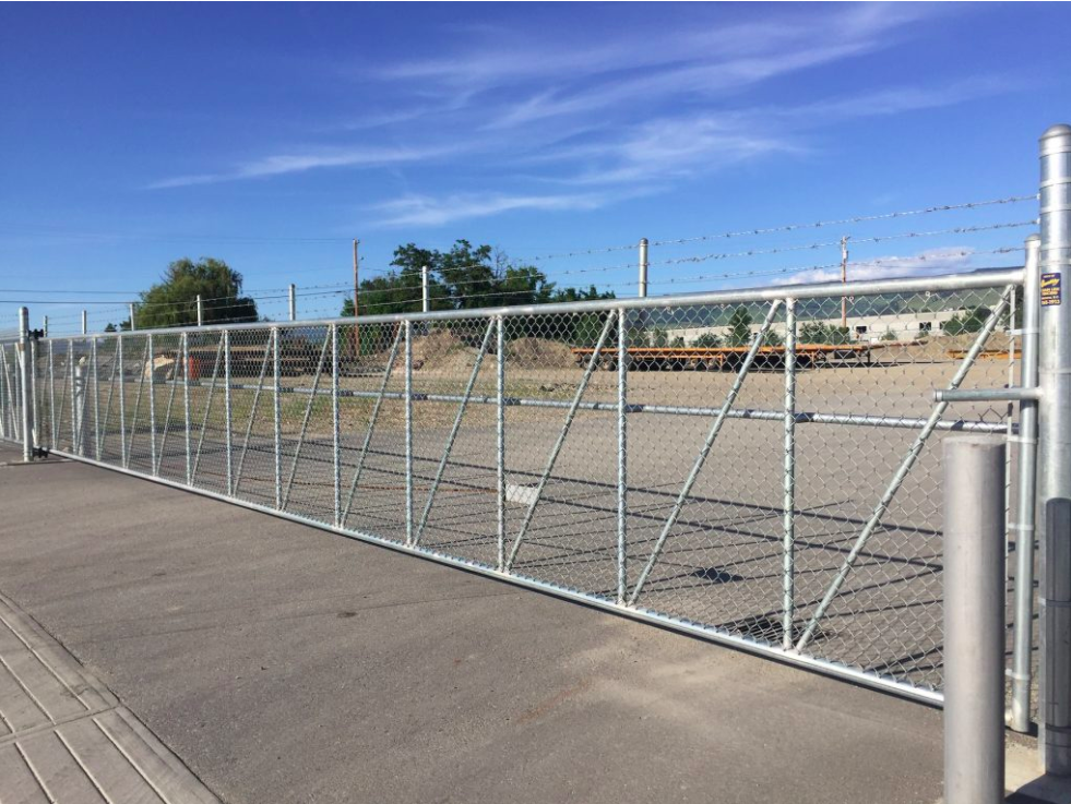 Chain Link Gates Cantilever Gates | Okanagan | Quality Chain Link Fencing