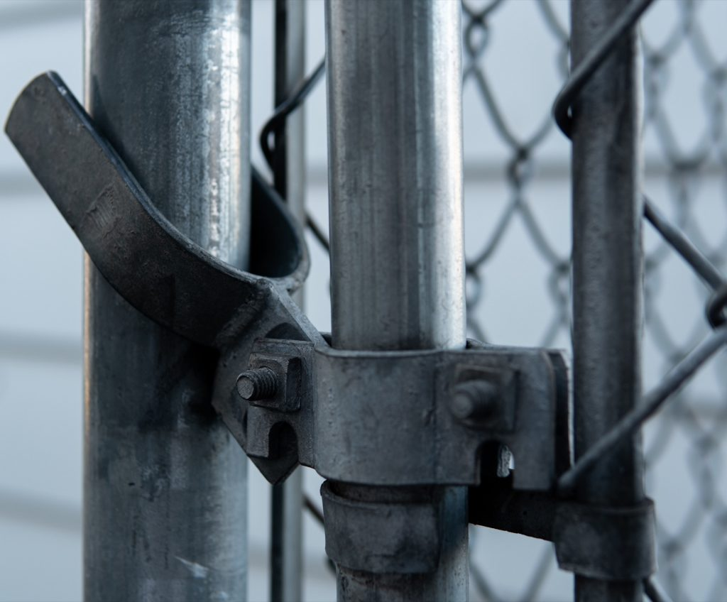 Secure chain link fence gate